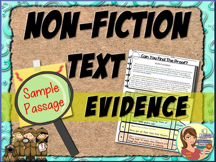 FREE Non-Fiction Reading Passage Text Evidence