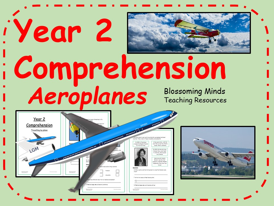 Year 2 non-fiction comprehension - Aeroplanes