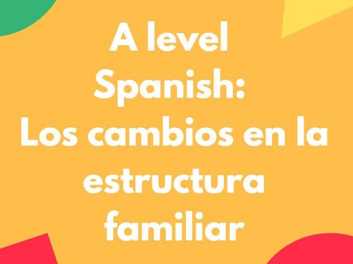 A Level Spanish: Los cambios en la estructura familiar