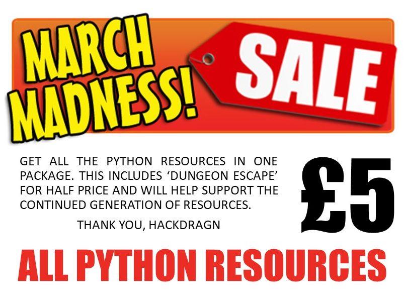 Python Bundle - March Madness Sale