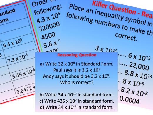 Writing Standard Form