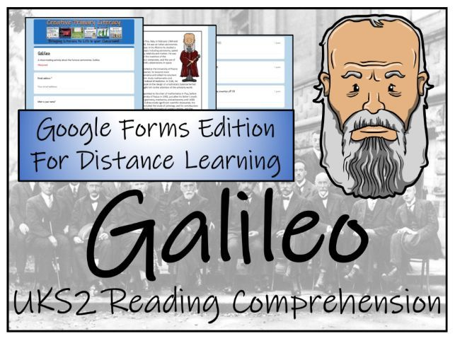 UKS2 Galileo Reading Comprehension & Distance Learning Activity