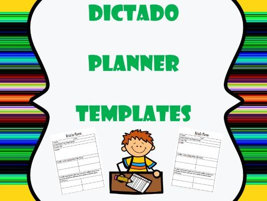 Dictado / Dictation Planner Templates - Bilingual