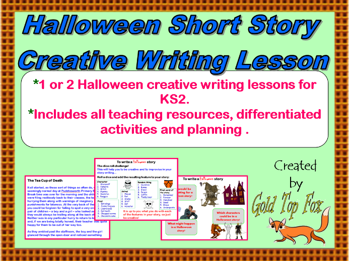 Halloween Short Story Creative Writing Lesson (KS2 English)