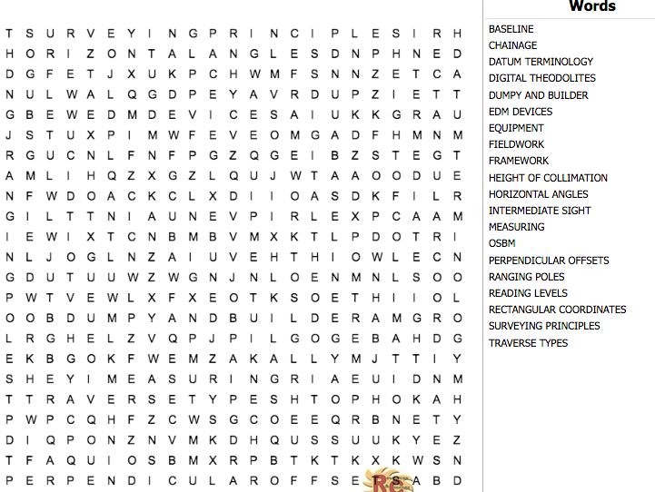 Construction & the Built Environment Level 3 Unit 6 Word Search LOA1 & A2