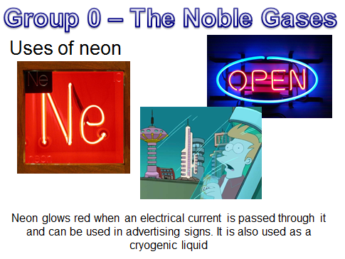 Group 0 - the Noble Gases