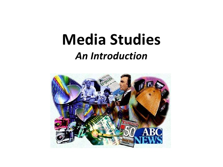 Introduction to (new) AS Media Studies