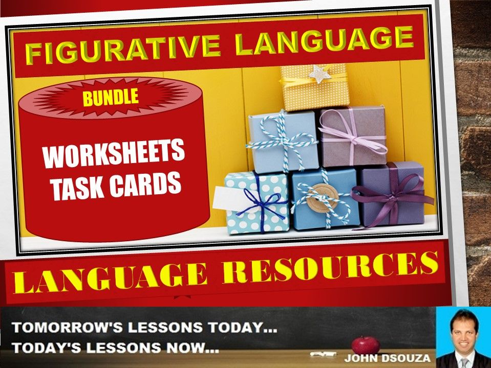 FIGURATIVE LANGUAGE WORKSHEETS WITH ANSWERS BUNDLE ...
