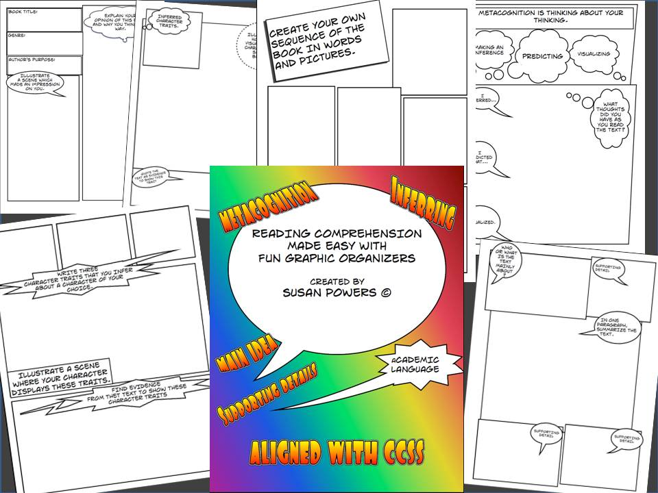 Cartoon Style Graphic Organisers for Reading Comprehension Skills