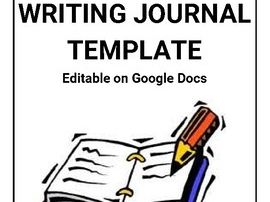 Writing Journal Template (Editable on Google Docs)