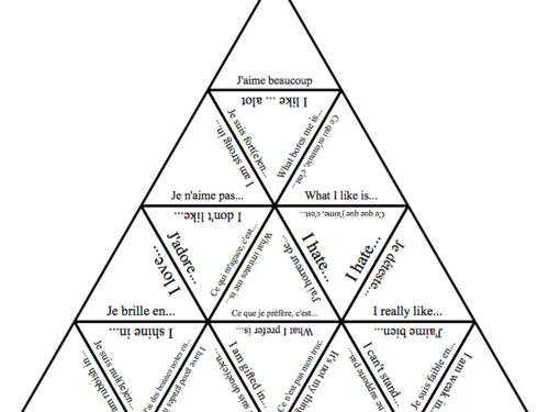 Bundle of Tarsia  puzzles for KS3/4French, Spanish and German across various key topics