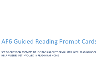 AF6 Guided Reading Prompt Fan