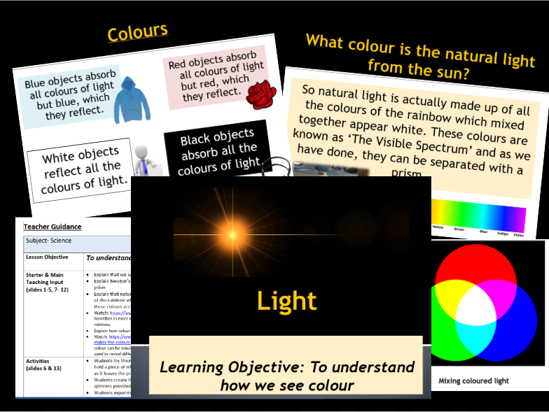 Light- How we see colour- Year 6