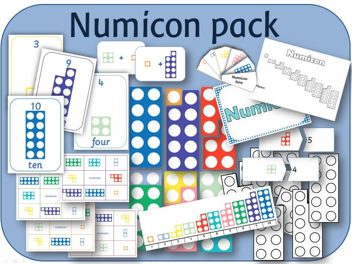 Numicon resource pack; lesson, activities, games, worksheets and display.