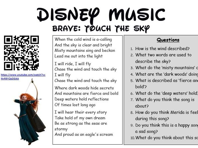 Disney Music Comprehension