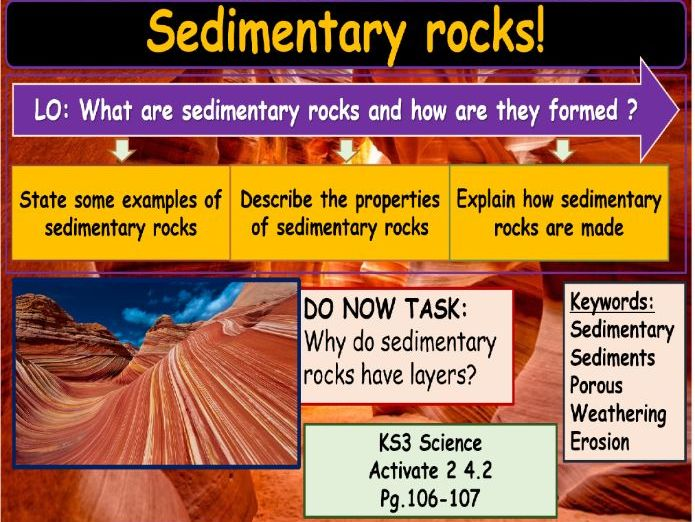 Sedimentary rocks KS3 Science
