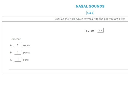French Pronunciation: Recognition of Nasal Sounds