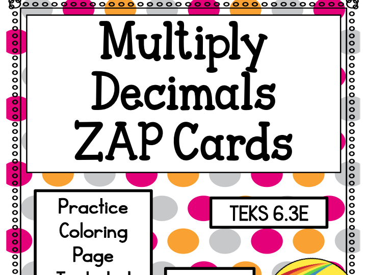 Multiply Decimals Zap Cards