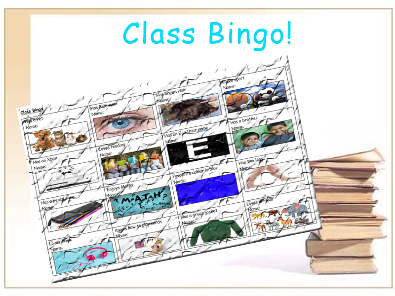 Class Bingo Great for the First Day!