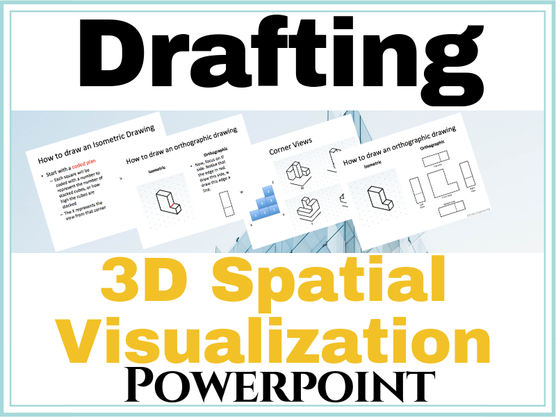3-D Spatial Visualization Powerpoint | Spatial Visualization **100% Editable!**