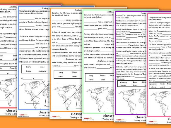 KS2 Trading in the Kingdom of Benin Worksheets