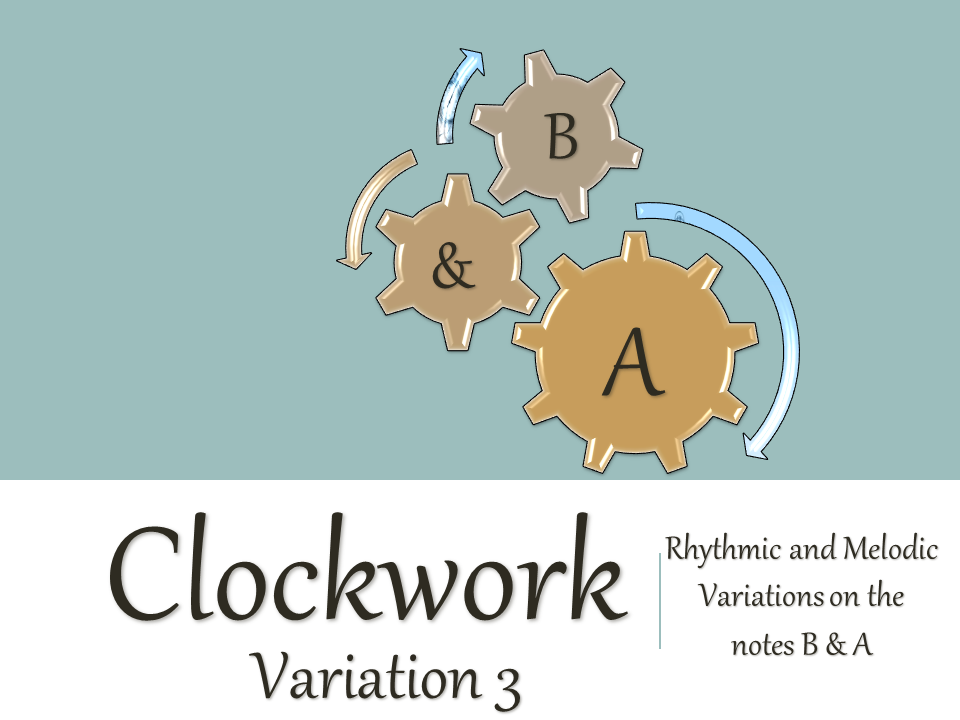Variations on the notes B & A (3)