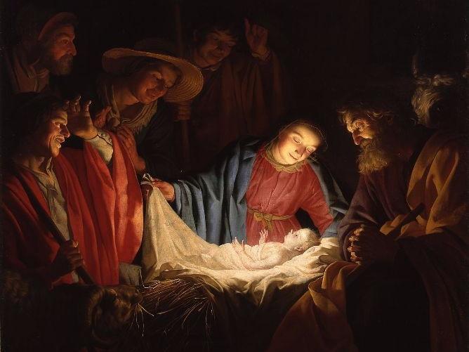 Little Jesus, sweetly sleep (We will rock you)