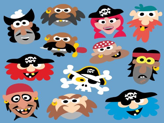 Printable Pirate Masks