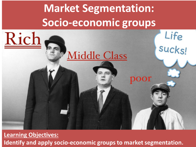 Socio-Economic groups (market segmentation)