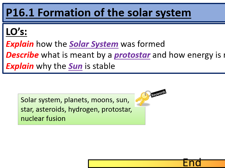 AQA GCSE Physics P16 Space Lesson PowerPoints