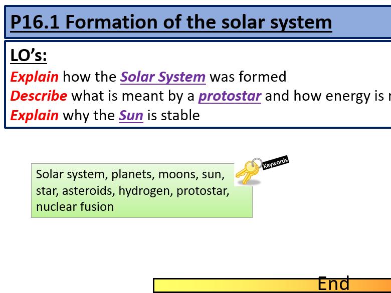 AQA GCSE Physics P16 Space Lesson PowerPoints