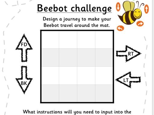 Beebot coding work sheet