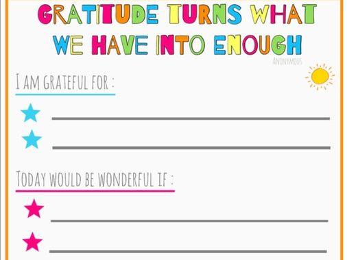 Gratitude Print Out