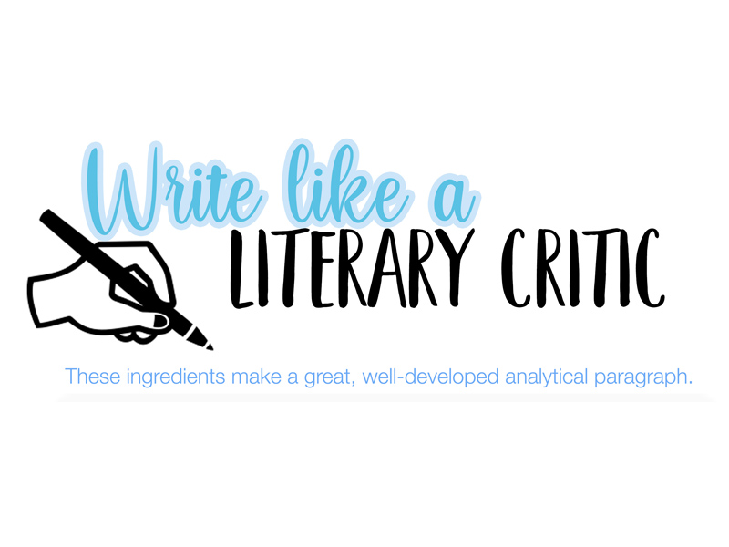 How to write like a literary critic (Poster)