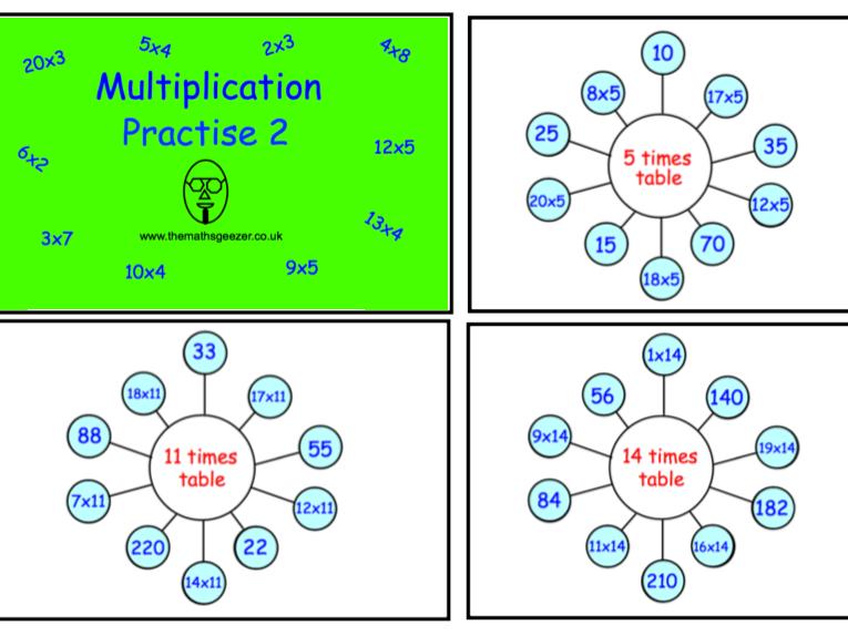 Multiplication Practise 2