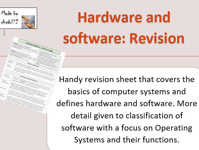 Hardware & Software - Knowledge organiser