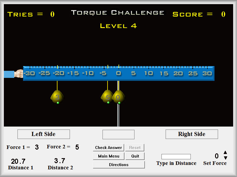 Physics - Torque Challenge Software - Mechanics Games & Demos