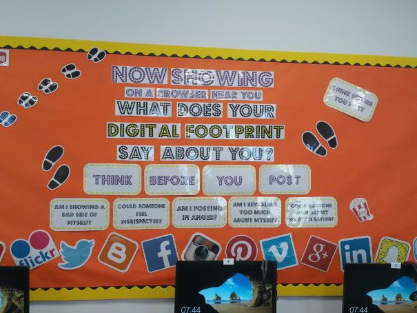 Digital Footprint E-Safety Display