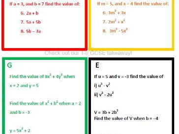 Differentiated (RAGE) Algebraic Substitution - www.TheMathsProfessor.com
