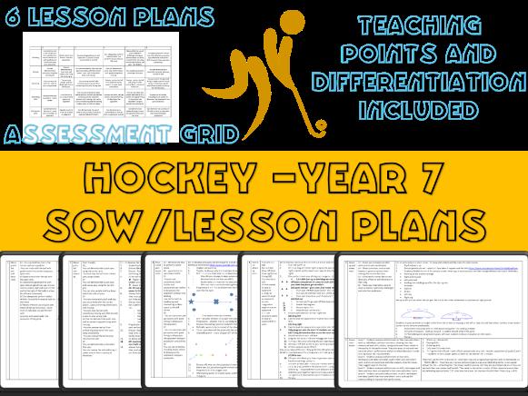Year 7 Hockey scheme of work / Lesson plans