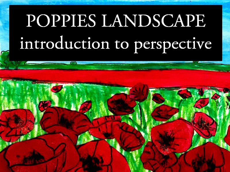 Basics of perspective, poppies landscape