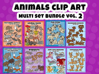450 Files Animal Clip Art ULTRABUNDLE Vol.2