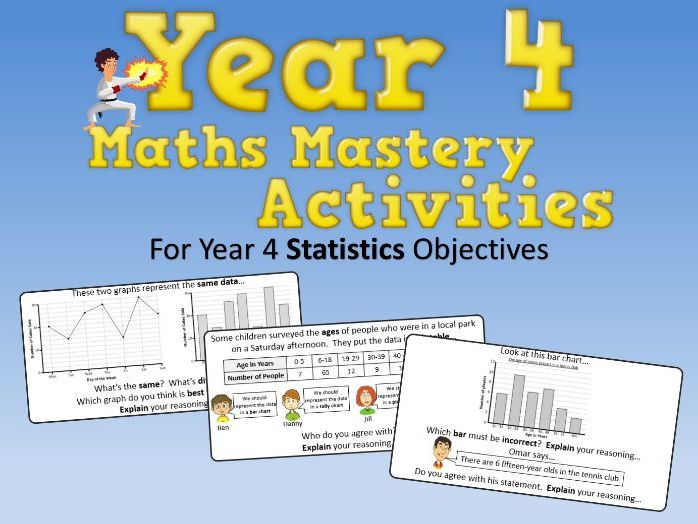 Statistics Mastery Activities – Year 4