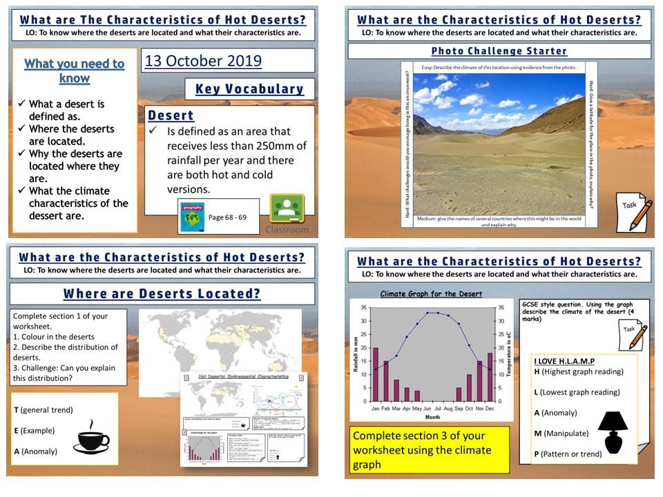 Environmental Characteristics of  Hot Deserts (1) AQA GCSE Geography