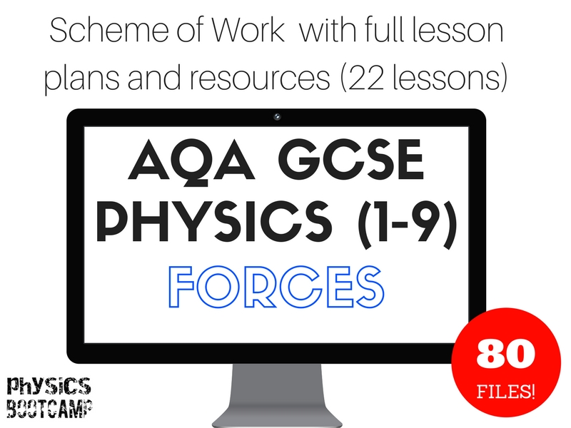 AQA GCSE Physics (1-9) Forces Scheme of Work (full lesson plans and resources - 22 lessons)
