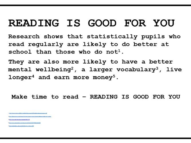 READING IS GOOD FOR YOU POSTER NEW 2019