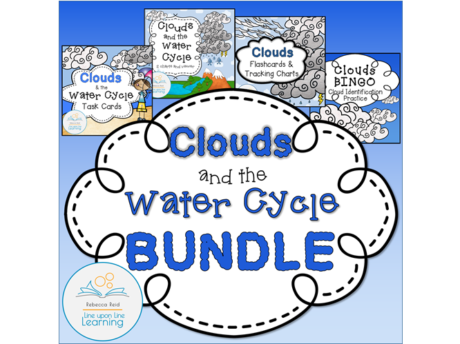 Clouds & the Water Cycle Information and Games BUNDLE