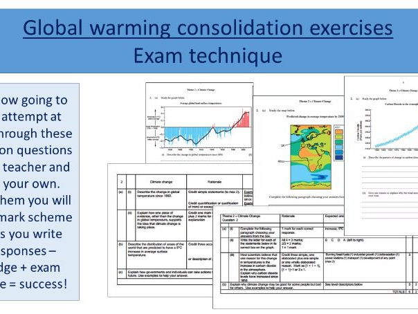 Climate change - Global temperature changes, evidence for CC and natural causes - Eduqas and AQA