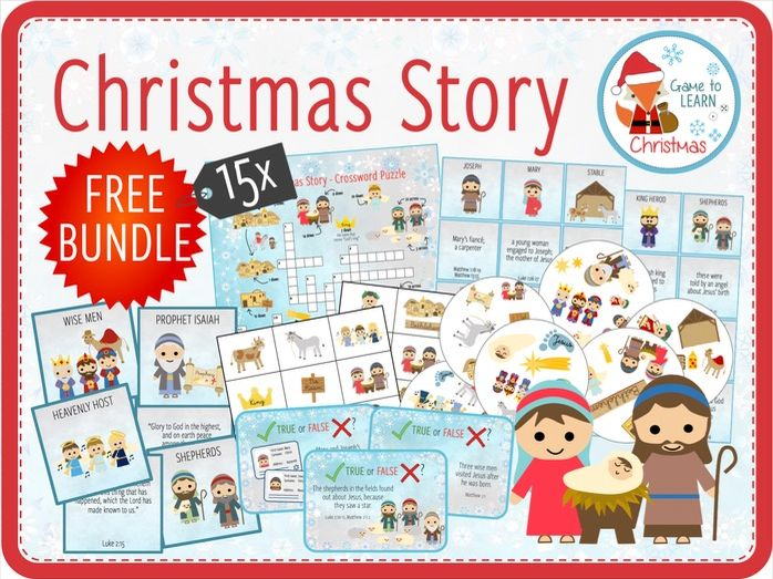Christmas Story - 15x Games & Activities on the Nativity Story
