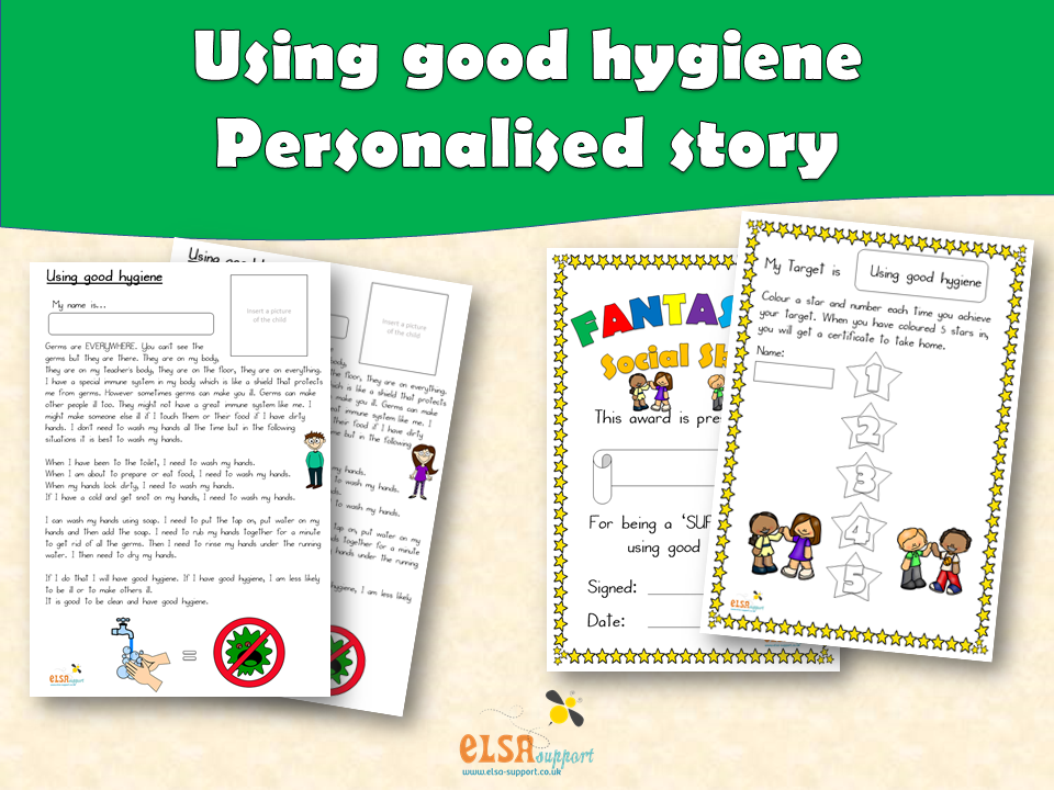 ELSA SUPPORT - Personalised story - Using good hygiene